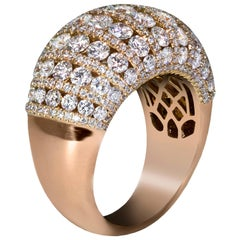 Fashionable Diamond Dome Ring