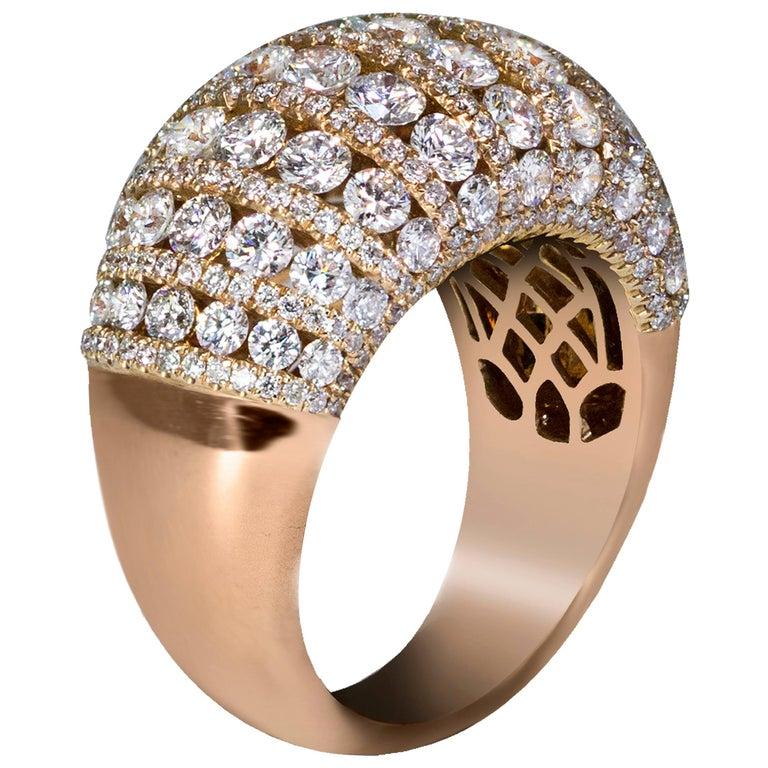 Fashionable Diamond Dome Ring