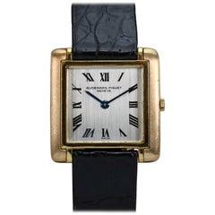 Audemars Piguet Yellow Gold Enamel Dress Wristwatch, 1950s