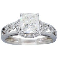 Simon G 1.25 Carat Cushion Cut Diamond Engagement Ring