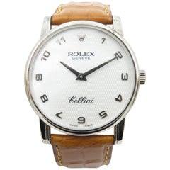 Rolex White Gold Cellini Manual Wristwatch