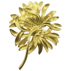 Angela Cummings Gold Chrysanthemum Brooch