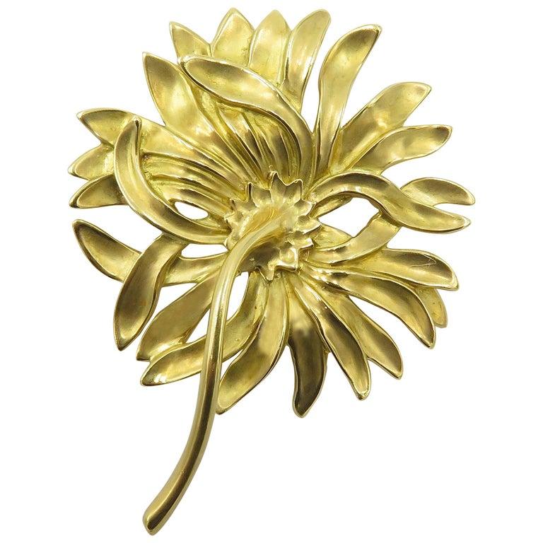 Angela Cummings Gold Chrysanthemum Brooch