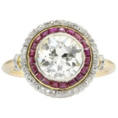 Ruby Old European Cut Diamond Ring