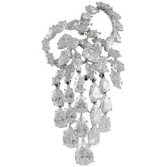 Harry Winston Pear and Marquise Diamond Brooch
