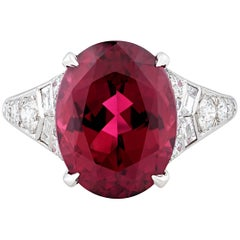 Tiffany & Co. 6.07 Carat Rubellite Tourmaline Ring