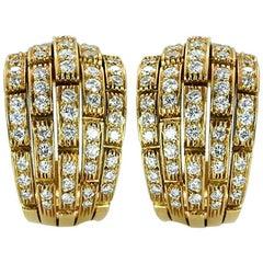 Cartier Diamond 'Oriane' Earrings