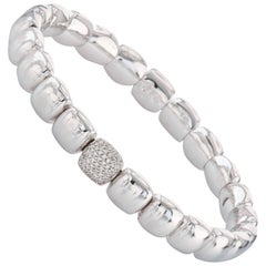 18 Karat White Gold and Diamond Stretch Bracelet