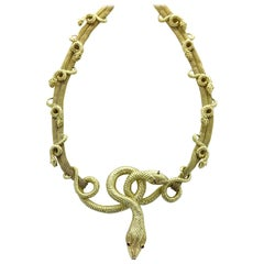 Snake Serpenti Yellow Gold Necklace
