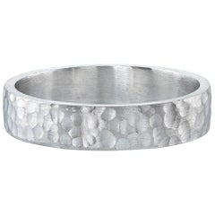 Hammered Platinum Men's Band