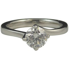 0.55 Carat Solitaire Diamond Engagement Ring, Platinum