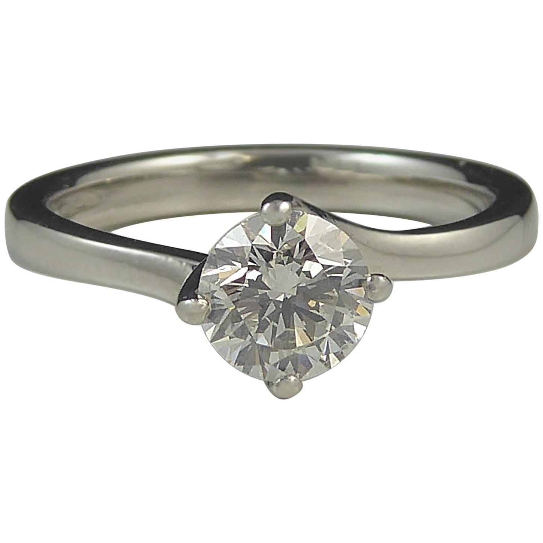 0.55 Carat Solitaire Diamond Engagement Ring, Platinum