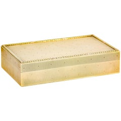 Cartier Retro Gold Rectangular Cigar Box