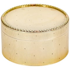 Cartier Retro Gold Round Box
