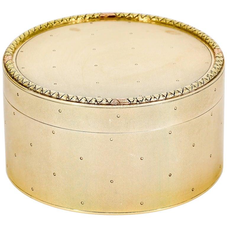 Cartier Retro Gold Round Box