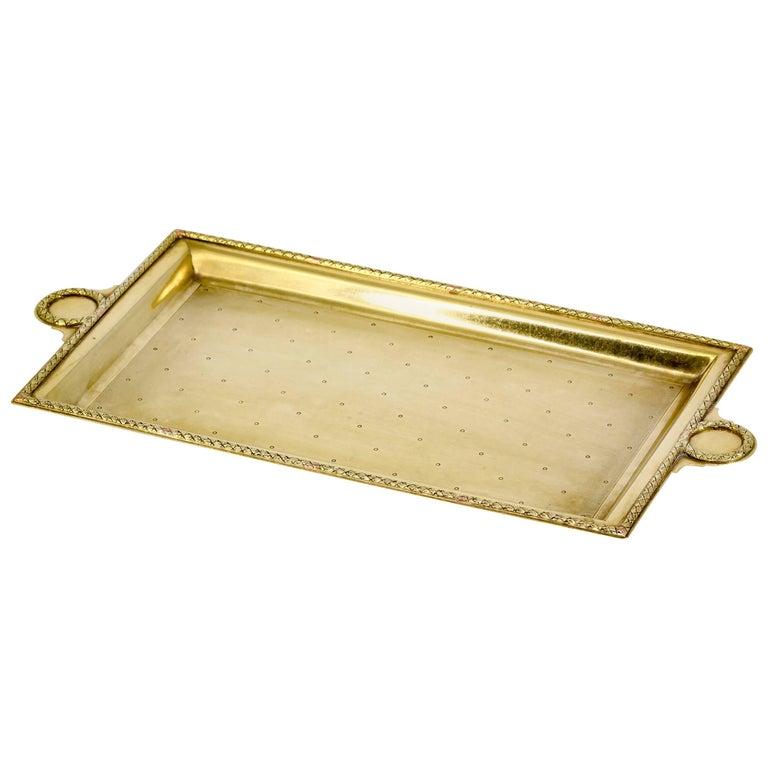 Cartier Retro Gold Rectangular Small Tray