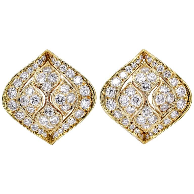 Cartier Diamond Gold Earrings