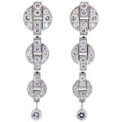 Cartier Himalia Diamond White Gold Drop Earrings