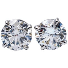 Diamond Studs Earrings 6.00 Carat