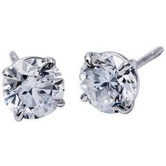 Diamond Studs Earrings 6.01 Carat
