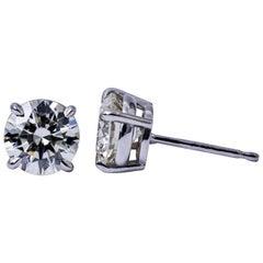 Classic Diamond Studs Earrings 4.54 Carat