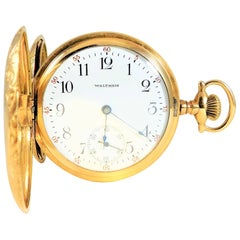 Waltham Ornate Gold Filled American Pocket Watch, 1905