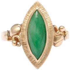 Art Nouveau Jade Ring
