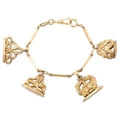 Watch Fob Charm Bracelet
