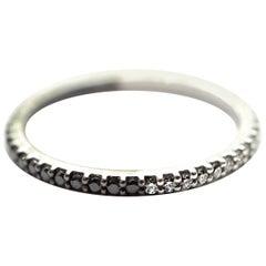 White and Black Diamond Shareena Band Ring