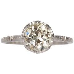 1.52 Carat Platinum Diamond Engagement Ring