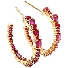 Sharon Khazzam Ruby Baby Hoop Earrings