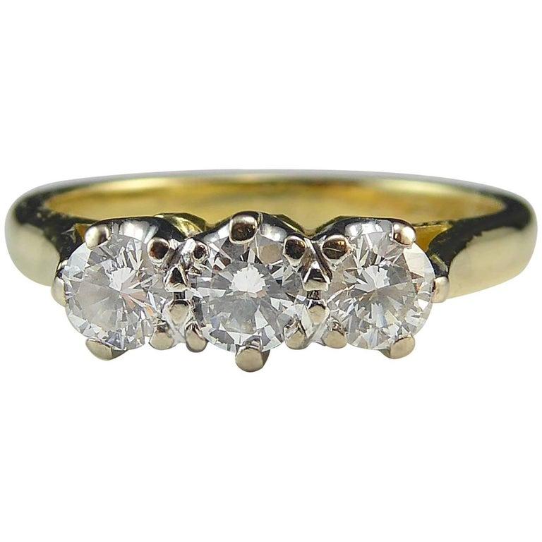 Diamond Three-Stone Trilogy Ring, 0.46 Carat, London, 2001