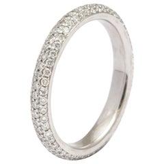 Donna Vock Platinum Micro-pave Diamond Wedding Band