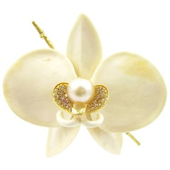 K. Brunini Jewels Important Orchid Brooch