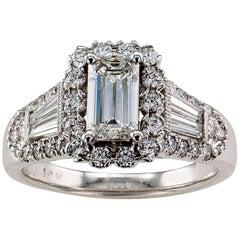 GIA 0.75 Carat Emerald Cut Diamond Engagement Ring