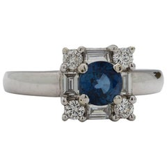 Modern Sapphire Diamond Ring