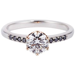 Cushla Whiting 'Poppy' 0.81 Carat Diamond Engagement Ring with Small Diamonds