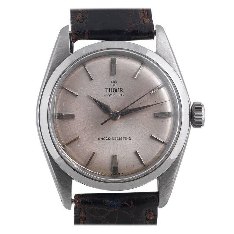 Tudor Rolex Stainless Steel Oyster Royal manual wristwatch Ref 7934, circa 1965 For Sale