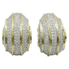 Bombe Gold and Diamond Earrings