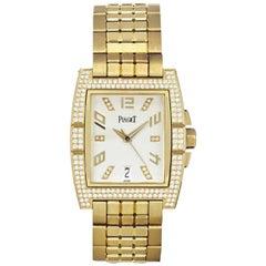 Piaget Yellow Gold Diamond Set Automatic Wristwatch