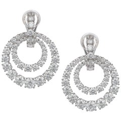Chopard Diamond Earrings 18k White Gold and 9.40 ct. Round Brilliant Diamonds