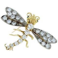 Herbert Rosenthal Diamond Dragonfly Brooch