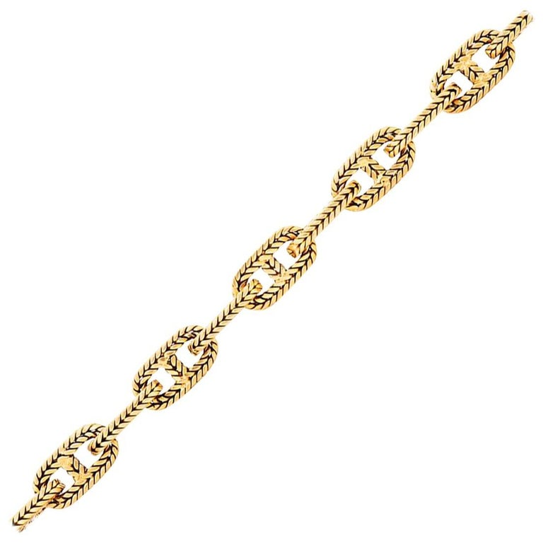 Hermes 18K Yellow Gold Chaine D Ancre Bracelet For Sale