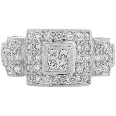 White Gold and Diamond Right Hand Ring