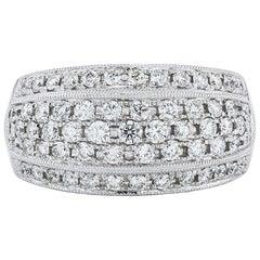 Jye's Gold and Palladium Diamond Ring
