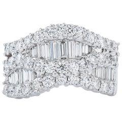 Jye's Gold and Palladium Diamond Fashion Ring