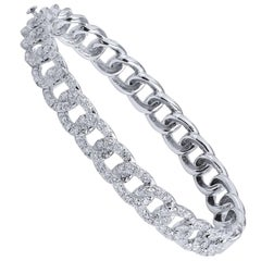 Diamond Chain Link Hinge Lock Bangle