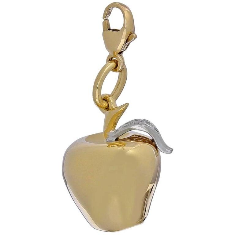 Tiffany & Co. Gold and Diamond Apple Charm