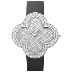 Van Cleef & Arpels ladies White Gold Diamond Alhambra Talisman Quartz Wristwatch
