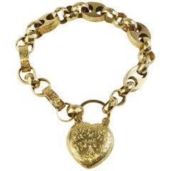 English Padlock Heart Bracelet